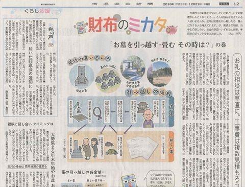 12月21日信濃毎日新聞「財布のミカタ」